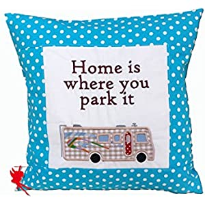 Home is where you park it Kuschelkissen Wohnmobil