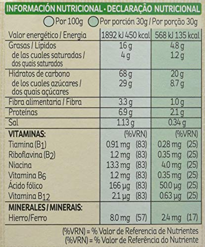 Kellogg's Cereales Krave Choco and Nuts - 6 Paquetes de 375 gr - Total: 750 gr