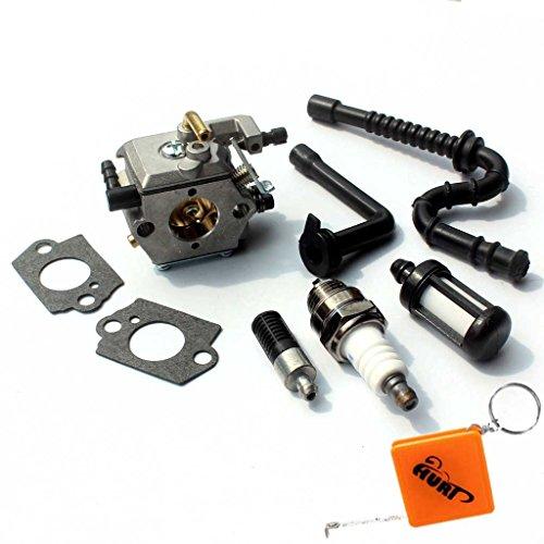 HURI Vergaser und Zündkerze und Benzin / Öl Schlauch Filter für Stihl 026 MS260 024 024AV AV MS240 # Walbro WT-194 WT-22 WT-110