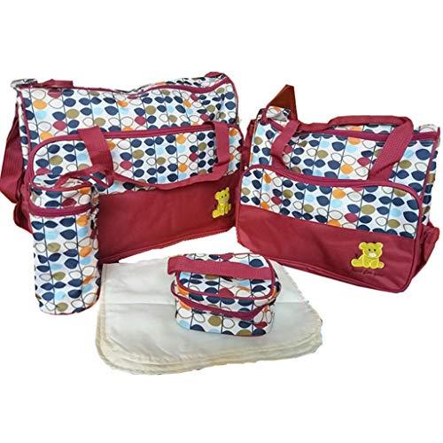 TKLLOVE Wickelrucksack Tasche, 5 STÜCK Frauen Multifunktions Mumienbeutel Handtaschen Mutterschaft Kinderwagen Tasche, große Kapazität
