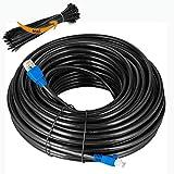 MutecPower Cavo Esterni CAT6 50m, impermeabile esterna di uso-interramento diretto UTP cavo di rete ethernet - 550Mhz, 50 metro