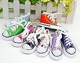 6 Schlüsselanhänger Schuh Anhänger Schuhe 12cm┃Echte Schnürsenkel┃Mitgebsel Kindergeburtstag