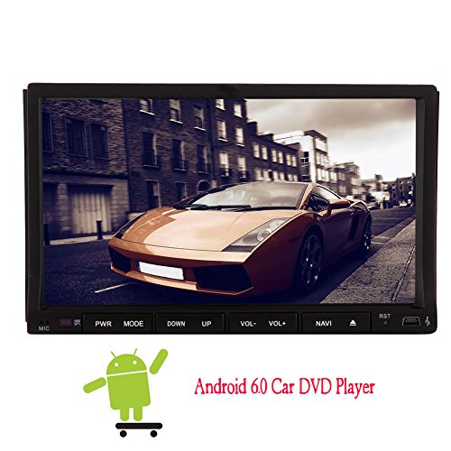 Neue Version!!! EinCar Universal-Android 6.0-System 7 Zoll GPS-Navi-Auto-DVD-Player in Dash Hauptger?t Double 2 L?rm Auto-Stereoradio HD 1080P Spiegel Link-Wifi Bluetooth motorisierte Leinwand