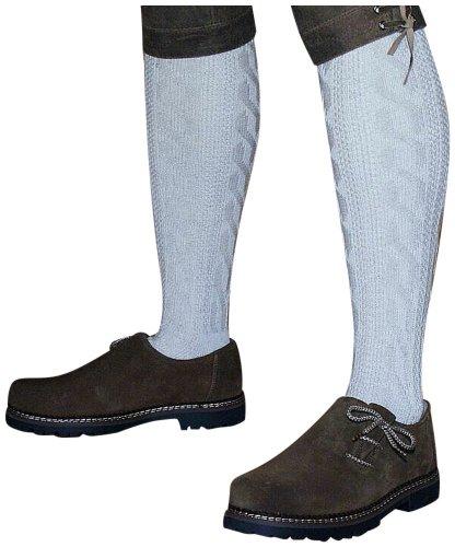 39-48 Trachtensocken Kniebundstrümpfe f. Lederhose Strümpfe Socken Stutzen beige, Größe:39-42