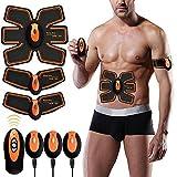 EGEYI Electroestimulador Muscular Abdominales Cinturón,Masajeador Eléctrico Cinturón,Ejercitador del Cuerpo para el Entrenamiento de los Músculos de Brazos y Piernas para Hombre Mujer
