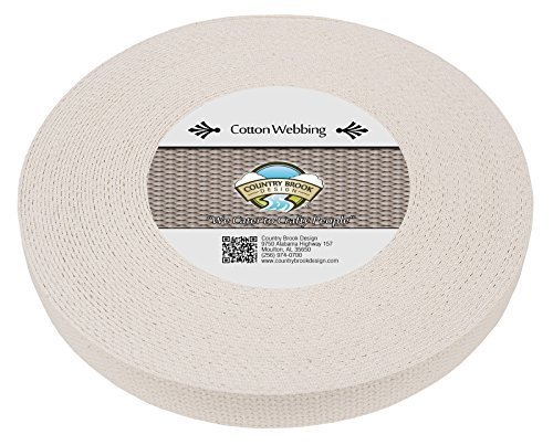 country-brook-design-1-inch-natural-heavy-cotton-webbing-10-yards-by-country-brook-design