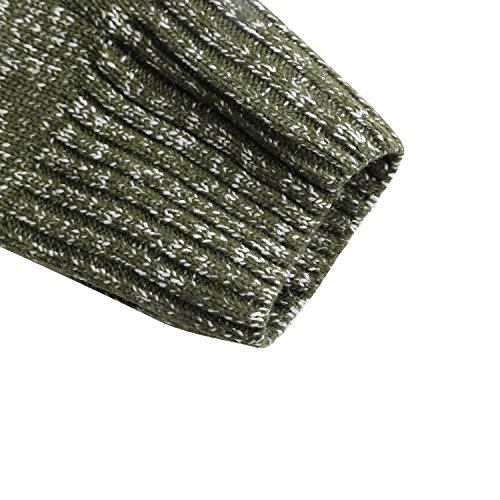 Luxspire Damen Pullover, V-Ausschnitt mit Schnürung Vorne Langarm Strickpullover, Schwarz, Medium Grün