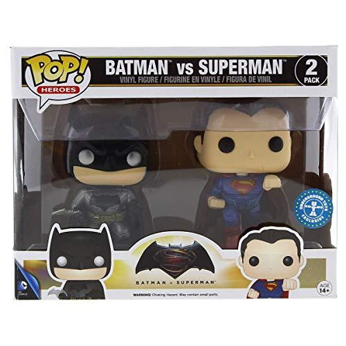 Funko, 7005-Batman vs Superman: 2 Figuras Pop Vinyl, en versión metálica