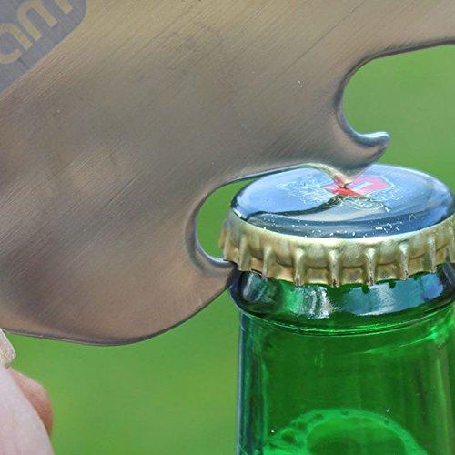 51A6bXCaZ7L - Machete Grillbesteck mit Flaschenöffner - Grillmachete Grillzubehör BBQ Edelstahl