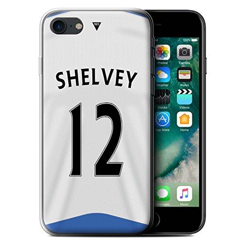 Offiziell Newcastle United FC Hülle / Gel TPU Case für Apple iPhone 7 / Shelvey Muster / NUFC Trikot Home 15/16 Kollektion Shelvey