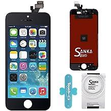 SANKA LCD Pantalla Táctil con Marco de Digitalización Asamblea Pantalla de Recambio para iPhone 5 - Negro