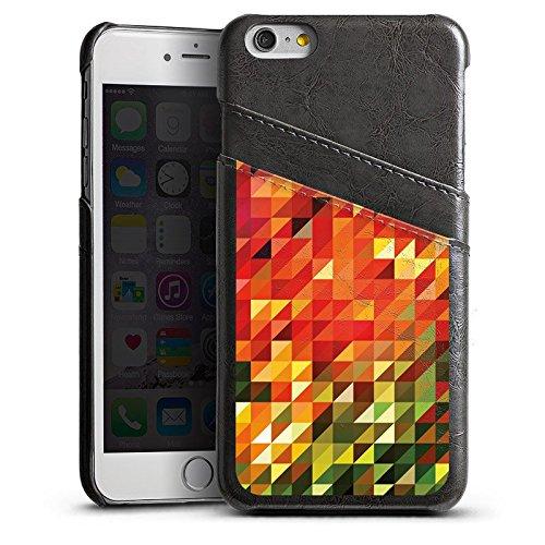 Apple iPhone 6 Housse Étui Silicone Coque Protection Cristaux Automne Abstrait Étui en cuir gris