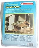 Bürstenmann 1197 Kombinations-Filtermatte / Fett- und Aktivkohlefilter für alle Dunstabzugshauben / 47 x 57 cm