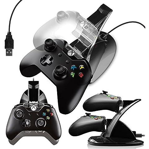 G-HUB® - X-BOX ONE DOBLE CONTROL DOCK (tiene y cargos hasta 2 Controllers Game Pad durante la carga y se puede utilizar durante la reproducción) Diseñado por G-HUB® exclusivamente para Microsoft X-BOX ONE Game Pads