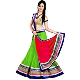 Sanjana Green & Red & Beige Womens Georg...