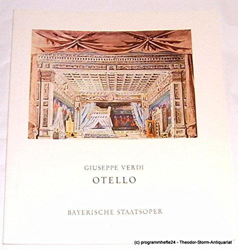 Programmheft Giuseppe Verdi: OTELLO. Inszenierung John Neumeier (Kostüme John Adams)