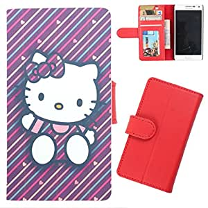 DooDa - For Micromax Canvas Hue 2 A316 PU Leather Designer Fashionable Fancy Wallet Flip Case Cover Pouch With Card, ID & Cash Slots And Smooth Inner Velvet With Strong Magnetic Lock