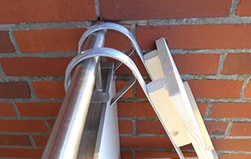 Jennys Tiershop 3 Meter! Katzenleiter mit 2 Verbindern/Katzentreppe für Balkon, Fichte Natur 20 cm, Katzenmöbel, Mit gr. Bügeln! (P4c)