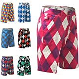 Royal and Awesome Colourful Golf Shorts Crazy Patterns Funny Sportswear