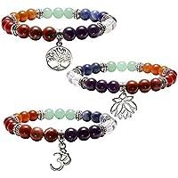 JOVIVI 3x Damen Herren 7 Chakra Armband Reiki Therapie Yoga-Armband Baum des Lebens OM Symbol Lotus Balance Stein... preisvergleich bei billige-tabletten.eu