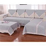 KA-ALTHEA- sofá toalla de tela escocesa del cojín del sofá cuatro estaciones de algodón gruesa tela cubierta de tela sofá minimalista moderna funda de deslizamiento (una sección) -El amortiguador del sofá conjuntos de sofás Funda ( Tamaño : 70*150cm )