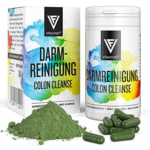 Natürliche Darmreinigung Kapseln Colon Cleanse - 60 Stück- Detox Kur zur Darmsanierung für mehr Wohlbefinden - Vegane Darm Kur mit vielen Kräutern & Gewürzen von Vitalfuel®