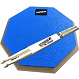 KEEPDRUM DP-BL Practice Pad Blau Drum Übungspad 8mm Gewinde