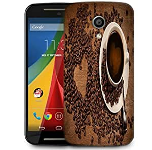Snoogg Coffee Heart Designer Protective Phone Back Case Cover For Motorola G 2nd Genration / Moto G 2nd Gen