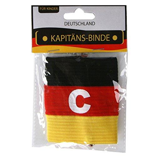 Kapitänsbinde Fussball-Fanartikel für Kopf und Körper Deutschland schwarz-rot-gold (Kapitäns-Binde)