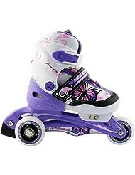 Kinder Inlineskates, Rollschuhe, 2 IN1, größenverstellbar NJ 9128 A Nils