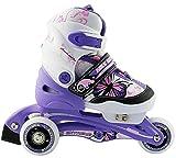 Nils NJ 9128 A, Pattini in linea o a rotelle per bambini, 2 in 1,