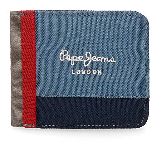 Billetera Pepe Jeans Yarrow Cartera de bolsillo Pepe Jeans con monedero, espacio para los billetes y varias ranuras para tarjetas Producto Pepe Jean London Dimensiones:10.00 x 9.00 x 2.00