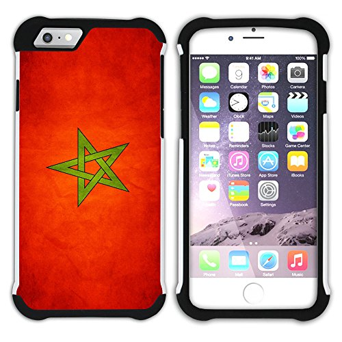 Graphic4You Vintage Uralt Flagge Von Turkey Türkisch Design Hart + Weiche Kratzfeste Hülle Case Schale Tasche Schutzhülle für Apple iPhone 6 Plus / 6S Plus Marokko Marokkanisch