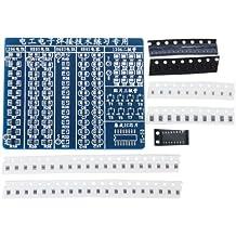 DIY Kit SMT SMD Práctica Placa Board Componente Soldado Soldadura Practice Plate
