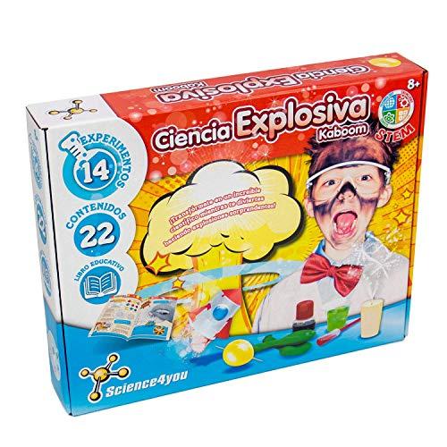 Science4you-5600983608658 Ciencia Explosiva Kaboom para Niños +8 Años, (1)