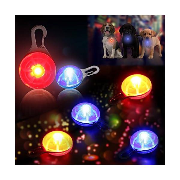 Top Munster Waterproof SpotLit Cat/dog Collar Light,LED Pet Safety Light Luminous Pendant for Outdoor Safety 2