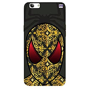 Yellow Design Spider Man - Mobile Back Case Cover For Oppo F1 S