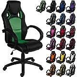 """RACEMASTER® """"GS Series"""" - Silla de escritorio/Gaming silla de despacho - Mecanismo de inclinación y elevación Homolación SGS - Disponible en 20 colores - silla de oficina verde"""