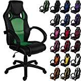 Maxstore RACEMASTER® Racing Bürostuhl GS Series Gaming Chair Gamer Stuhl in 20 Varianten Drehstuhl Gaslift SGS Geprüft Schreibtischstuhl Wippmechanik Grün