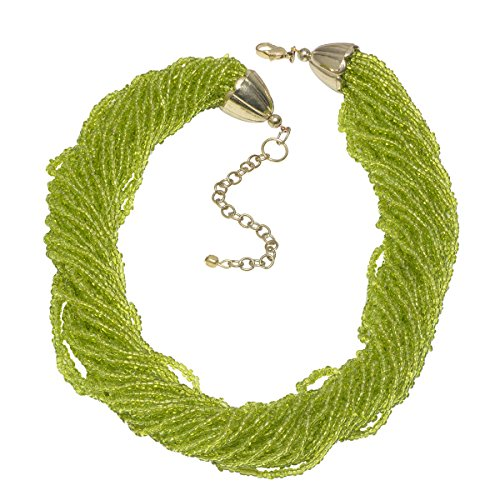 Vaibhav Green Glossy Beaded Ethnic Necklace For Women  available at amazon for Rs.209