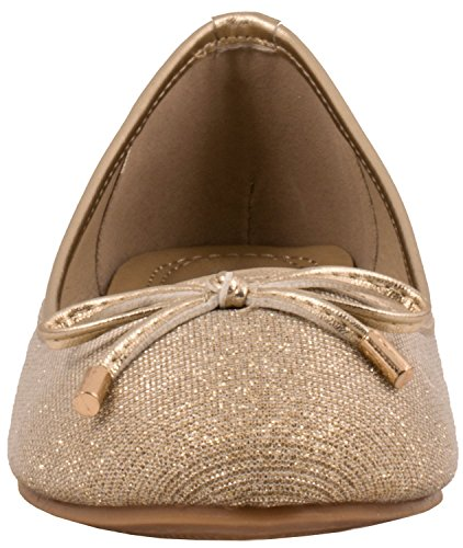 Elara Damen Ballerina | Hochwertige Glitzer Slipper | Flats Slip-Ons Gold State