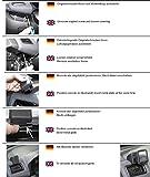 KUDA Navigationskonsole (LHD) für: Navi Fiat Doblo ab 03/2010 Opel Combo/Mobilia / Kunstleder schwarz