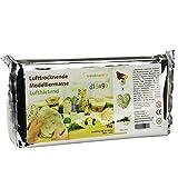 trendmarkt24 Modelliermasse lufttrocknend ✓ 1000g weiß (Hellgrau) glutenfrei, geruchslos ✓ Ideale Modelliermasse/Bastelmasse für Kinder ab 3 Jahren ✓ tonähnliche Tonmasse lufthärtend | 1-kg 3091