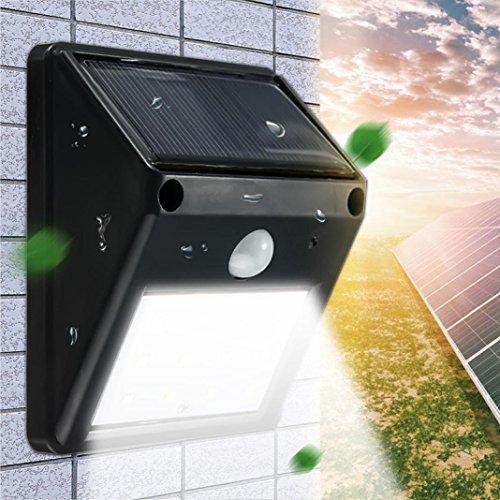 sunnymi LED Solar Power Lichtsensor Wasserdichte Outdoor Garten Camping Wandleuchte Garten Schritt Treppenlicht Lampe Weihnachten Lichter Party Hochzeit (Kaltes Weiß)