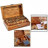 Gearmax Tampons en Caoutchouc en Bois Ensemble, Petits Outils de Bricolage Timbre situés à différentes Lettres de Style (70 pcs Alphabet + Timbres numériques Vintage)