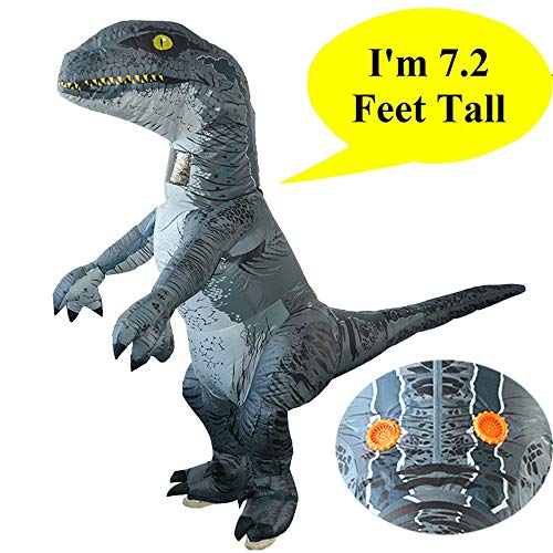 lustiges Spielzeug, ALIKEEY Erwachsenes aufblasbares Dinosaurier-Kostüm Halloween Cosplay sprengen Ausstattungs-Velociraptor