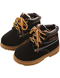 BenSports Botas de Nieve para niños, Botas Calientes de Inglaterra Martin Botas de Invierno Zapatos Suela de Goma, niños niñas (Reino Unido 4 – 13)
