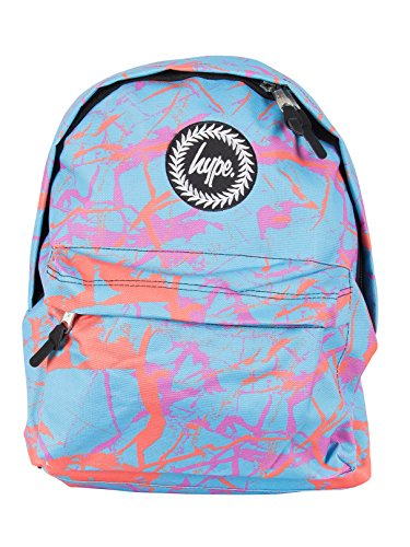 Hype Hombre Pastel Mármol Logo Backpack - Exclusivo para Stand-Out, Azul, One Size