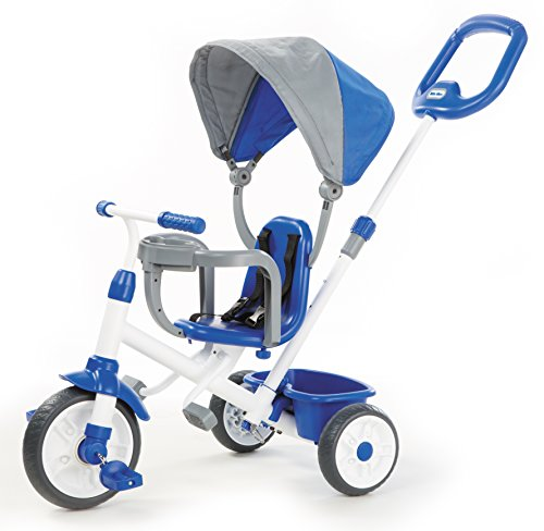 Little Tikes My First Trike 4-in-1 Trike (Blue), Blue, Kids Toys, 1 Year & Above, Outdoor & Indoor, Baby Cycle