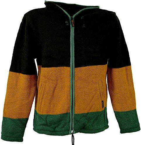 Strickjacke Wolljacke Nepaljacke / Strickjacken und Ponchos Mehrfarbig